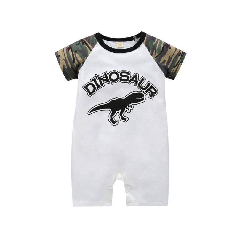 Dinosaur Camo Baby Summer Jumpsuit