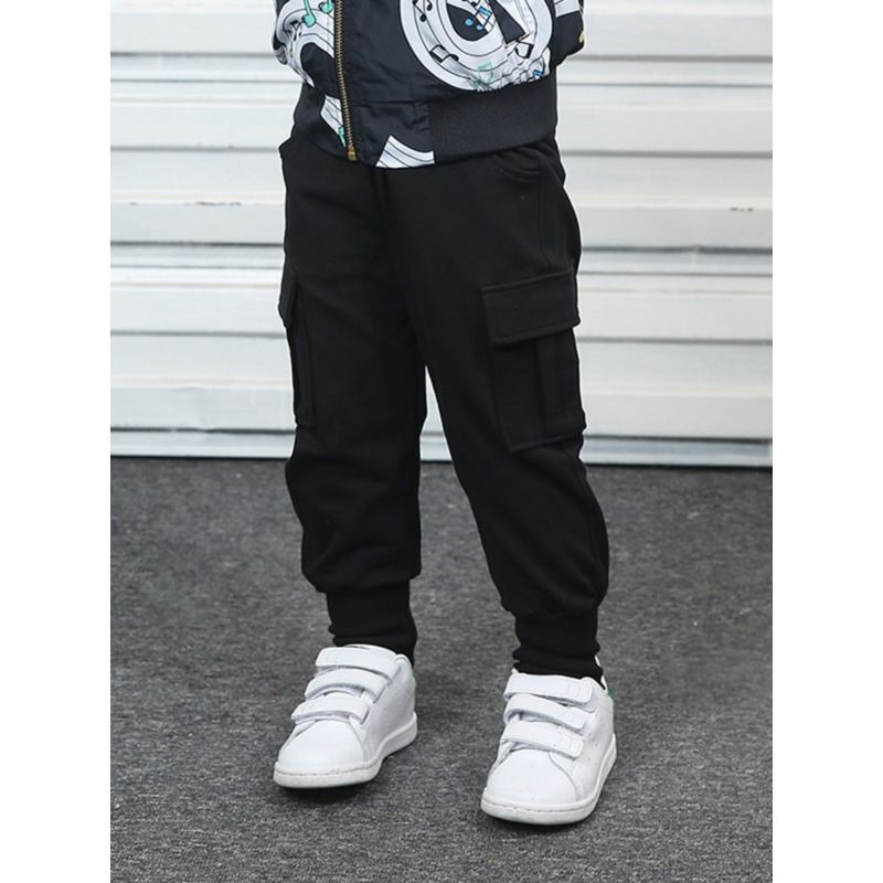 Spring Toddler Little Boy Solid Color Pants