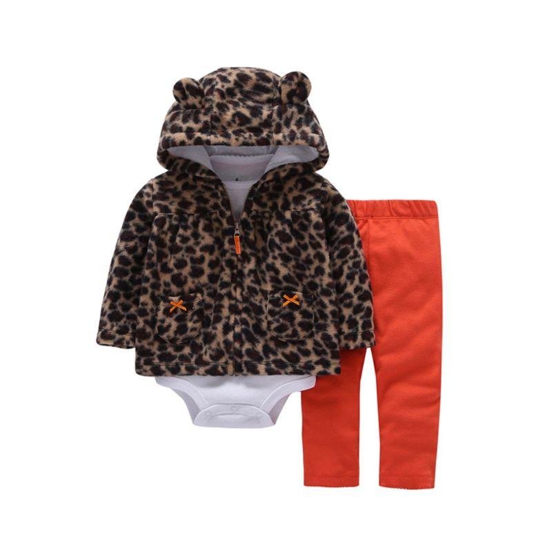 3-Piece Spring Baby Girl Jacket+Bodysuit+Pants