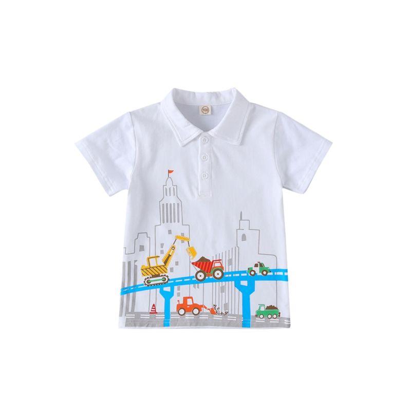 Car Print Baby Toddler Boy Polo T-shirt