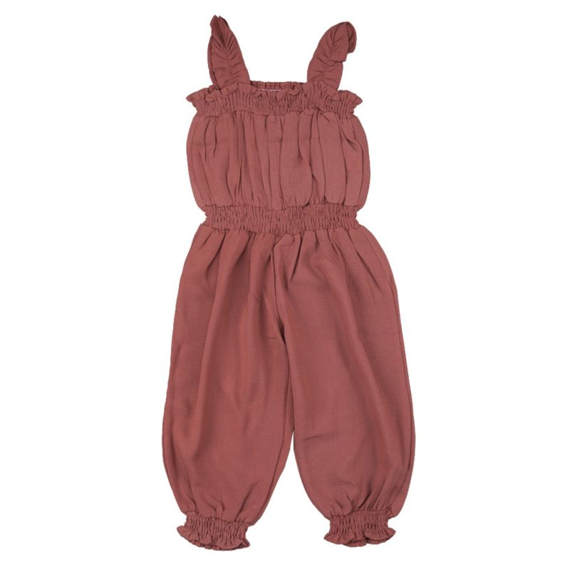 Solid Color Baby Toddler Girl Jumpsuit