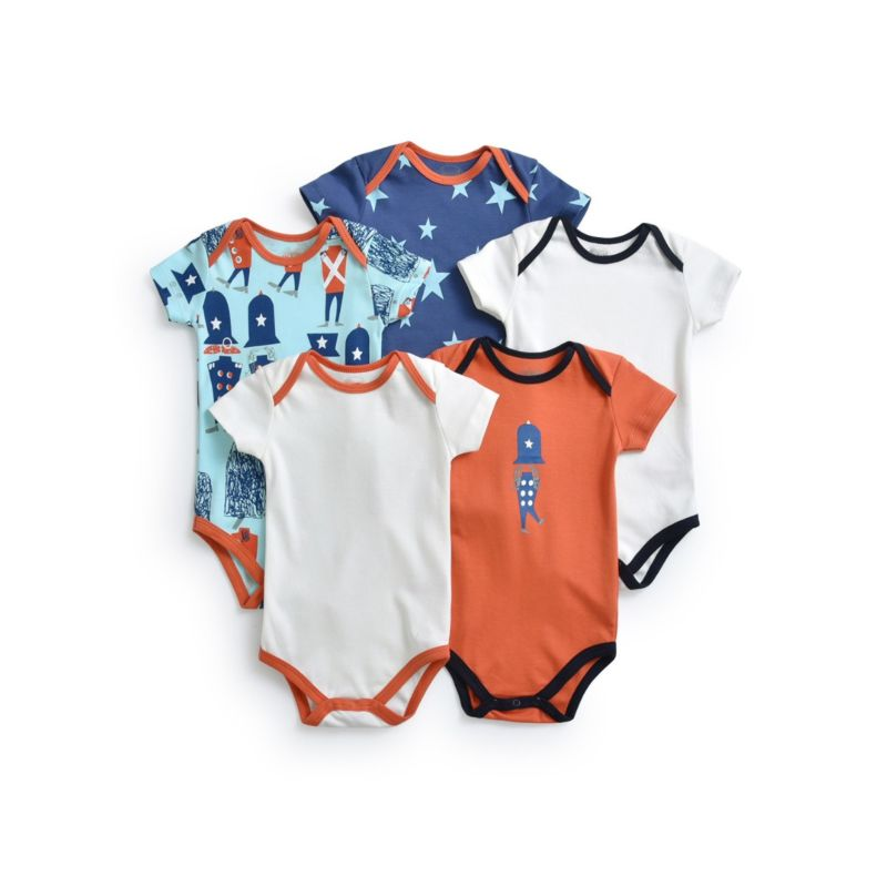 5-PACK Summer Assorted Style Baby Romper Playsuit