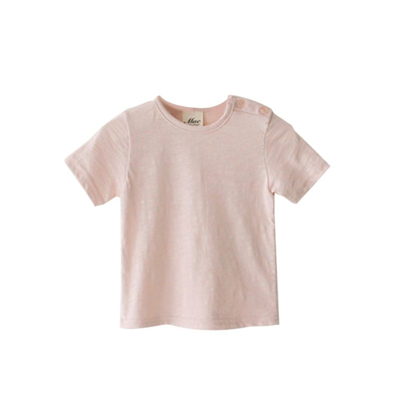 Comfortable Solid Color Baby Unisex Tee