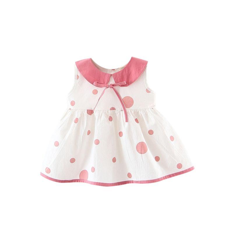 Cute Polka Dots Peter Pan Collar Baby Girl Dress