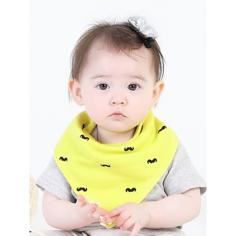 3-PACK Cute Baby Girl Boy Buttoned Bib