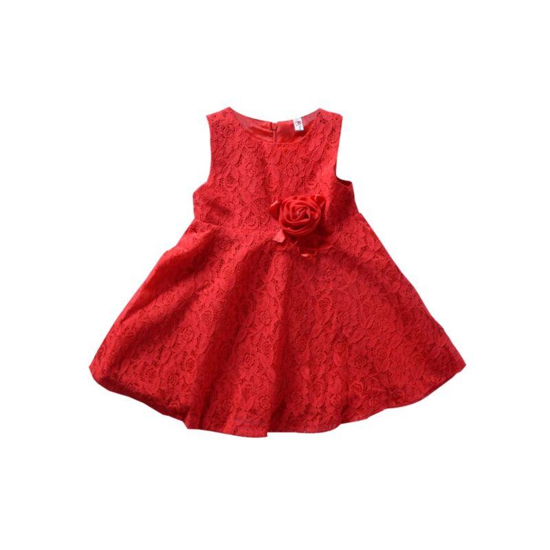 Fashion Flower Lace Sleeveless Princess Party Dress