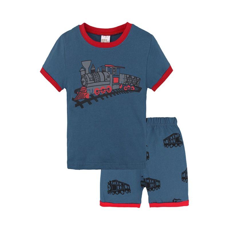 2-Piece Summer Toddler Little Boy Sleepwear Set