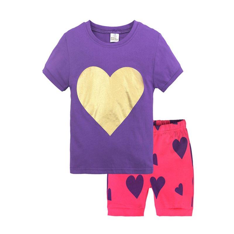 2-Piece Summer Toddler Little Girl Pajamas