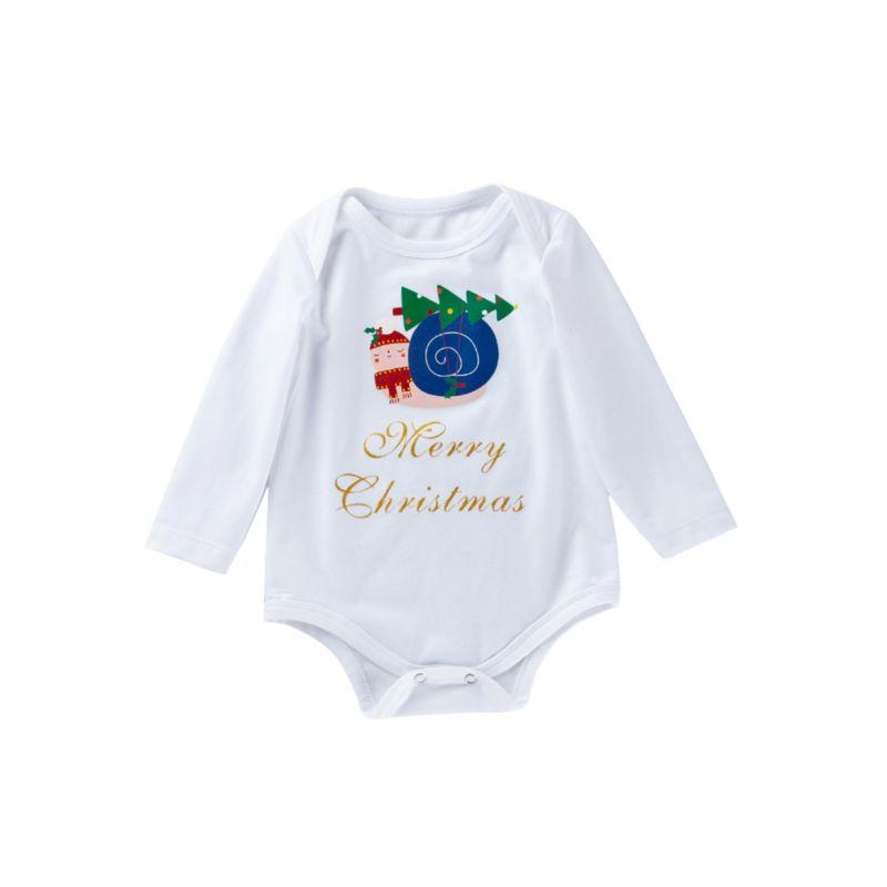 Merry Christmas Bodysuit Long-sleeved