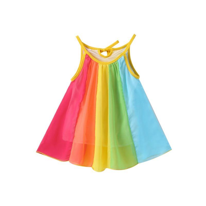 Rainbow Color Blocking Sundress