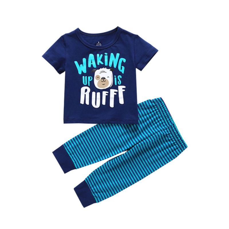 2-Piece Baby Printed Nightwear Set Top+Pants