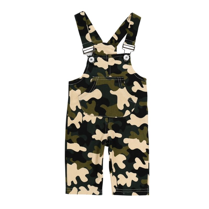Baby Toddler Kids Camo Suspender Pant