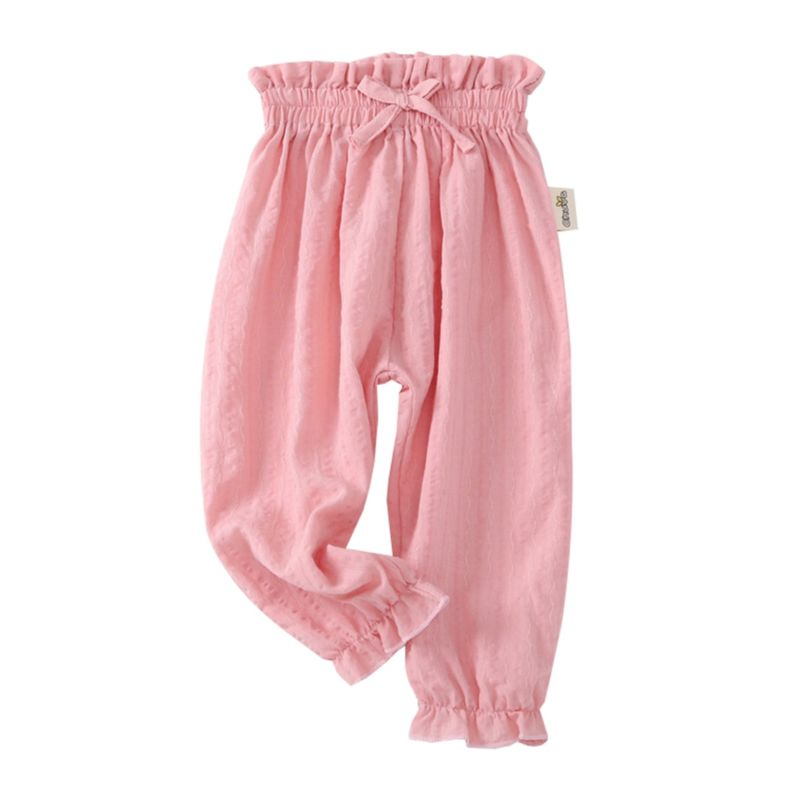 Summer Toddler Little Girl Solid Color Trousers