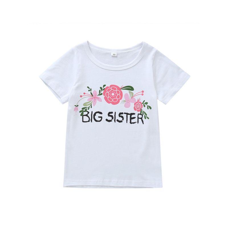Big Sister Flower White Tee