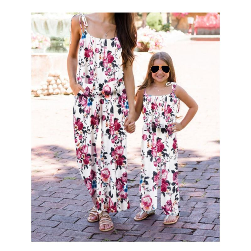 Mom and Me Flower Jumpsuit