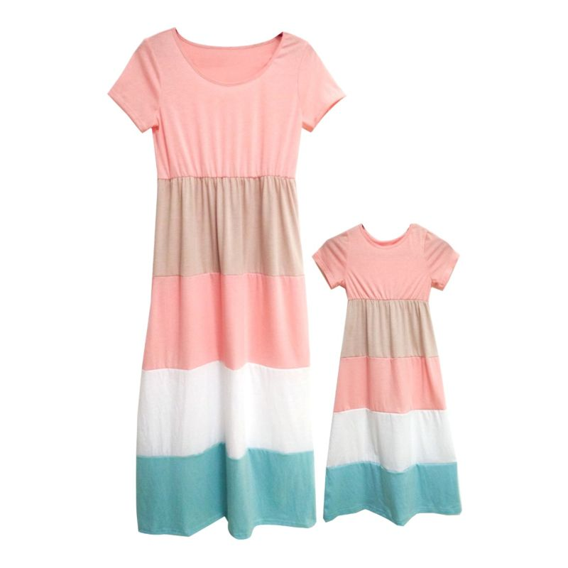 Mommy and Me Color-blocking Dress