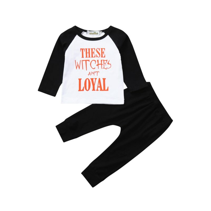 2-Piece Fall Homewear Set These Witches Ain't Loyal Tee & Pants