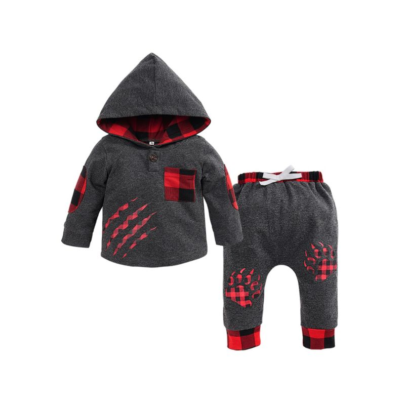 2-Piece Fall Baby Clothes Set Hoodie & Trousers