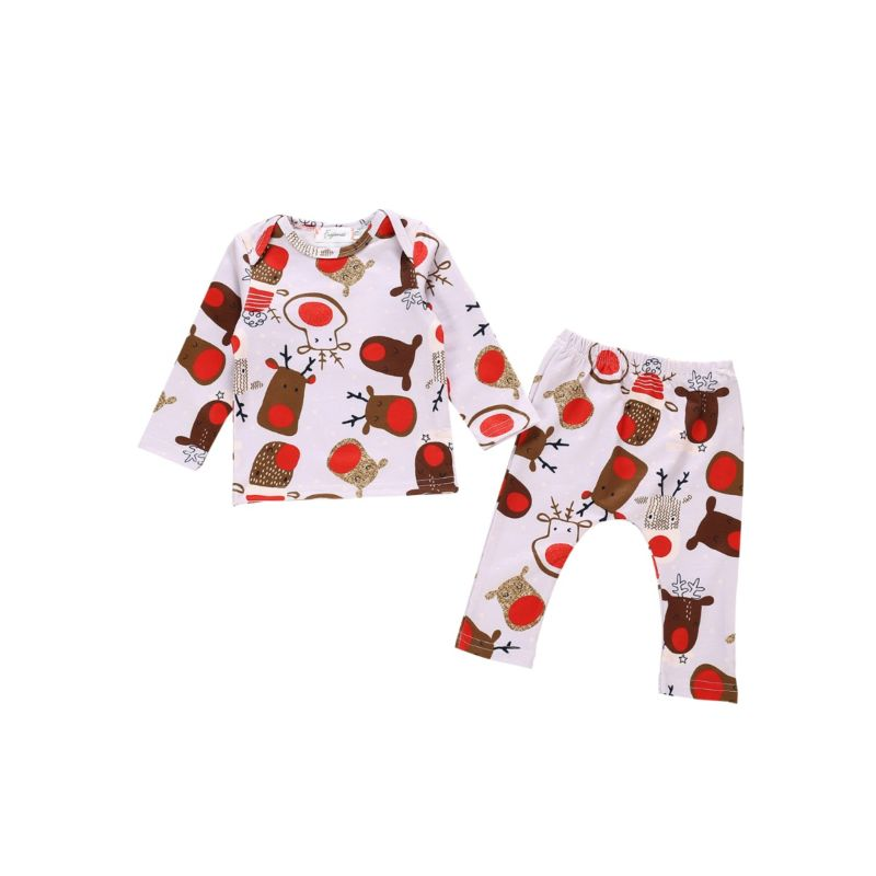 2-Piece Christmas Theme Baby Set Tee & Trousers