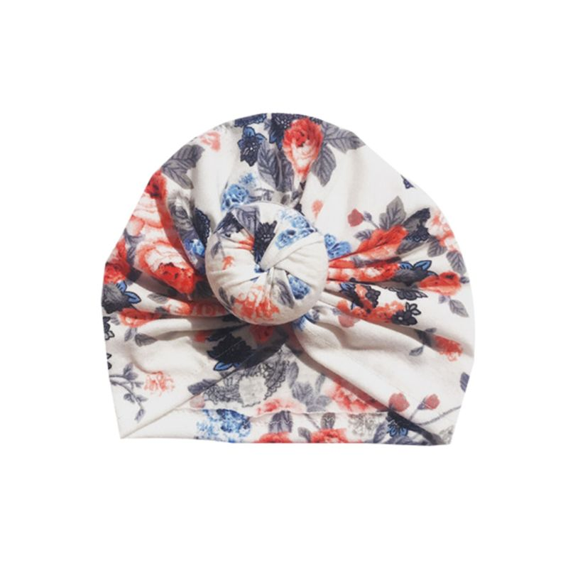 3-PACK Bohemia Style Floral Baby Turban Hat