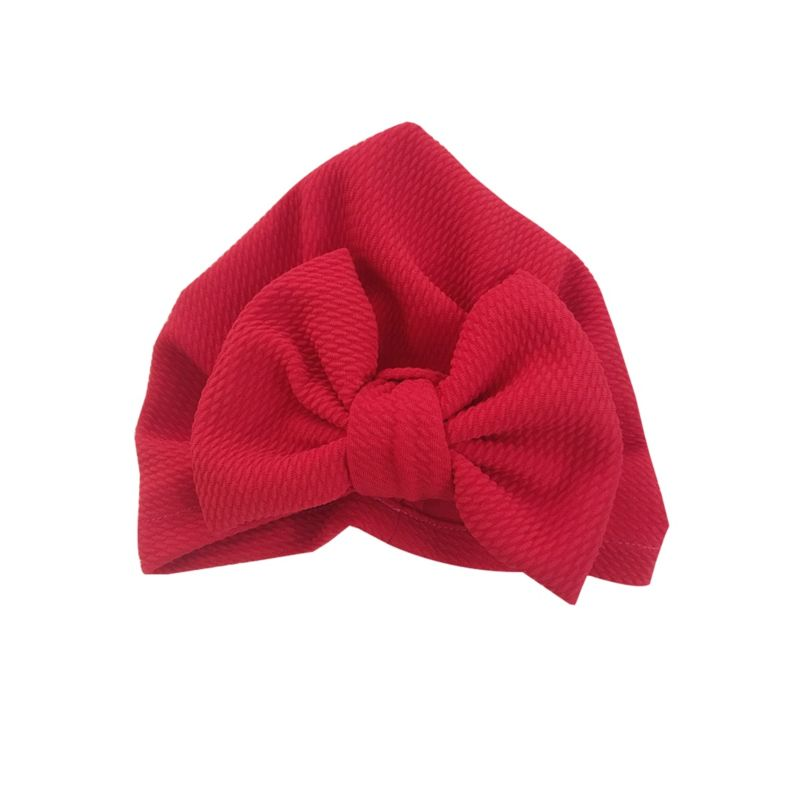 3-PACK  Indian Style Solid Color Big Bow Baby Turban Hat