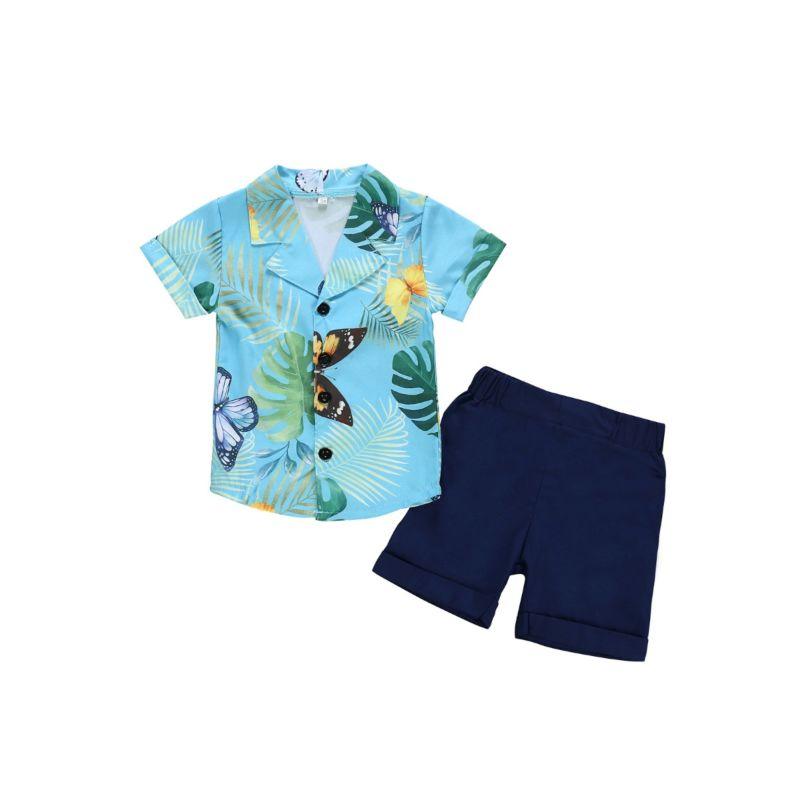 2-Piece Toddler Boy Hawaii Style Shirt & Shorts Set
