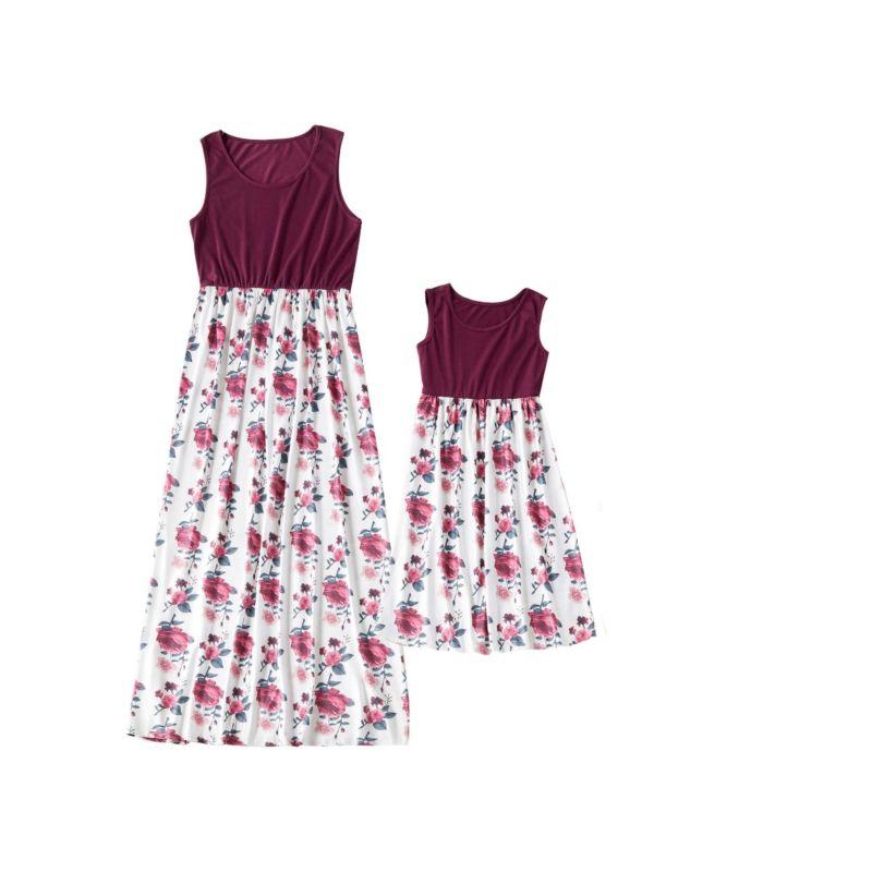 Mom and Me Sleeveless Flower Dress