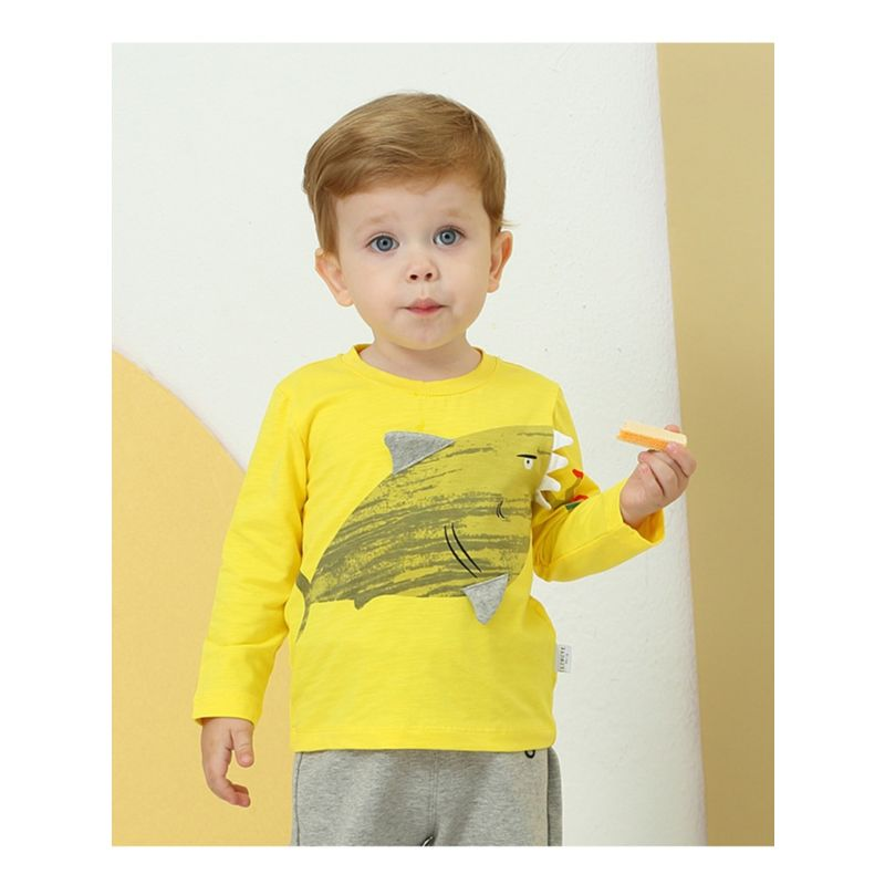 Baby Toddler Boy Shark T-shirt Long-sleeved