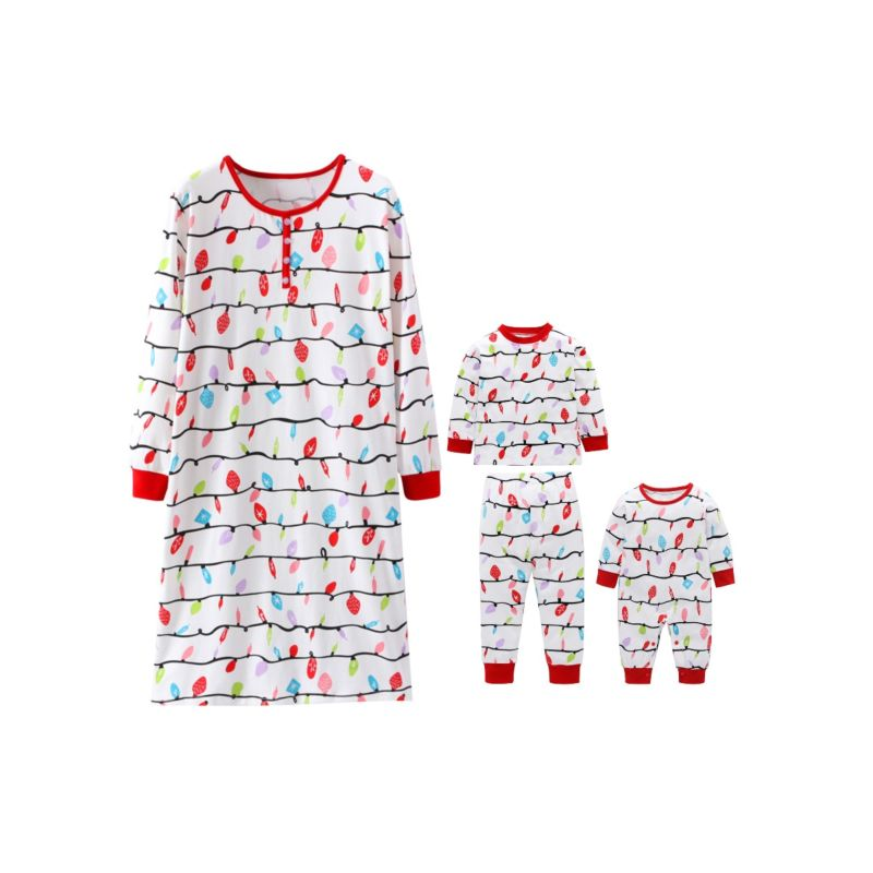 Mom and Me Family Matching Christmas Theme Clothes Set Shift Dress