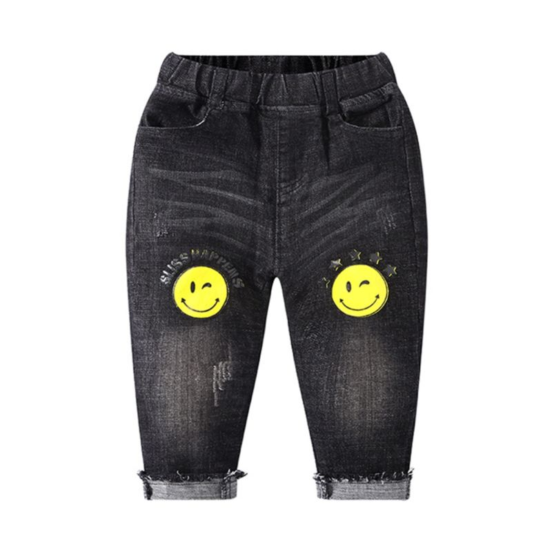 Spring Fall Smile Denim Pants