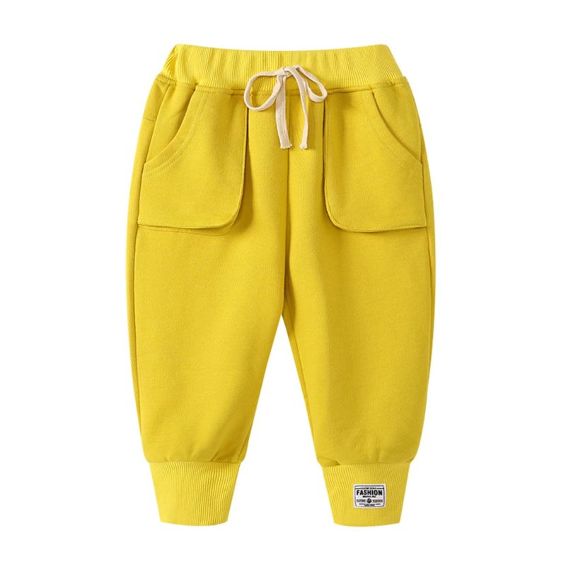 Solid Color Pull-on Beam Mouth Pants