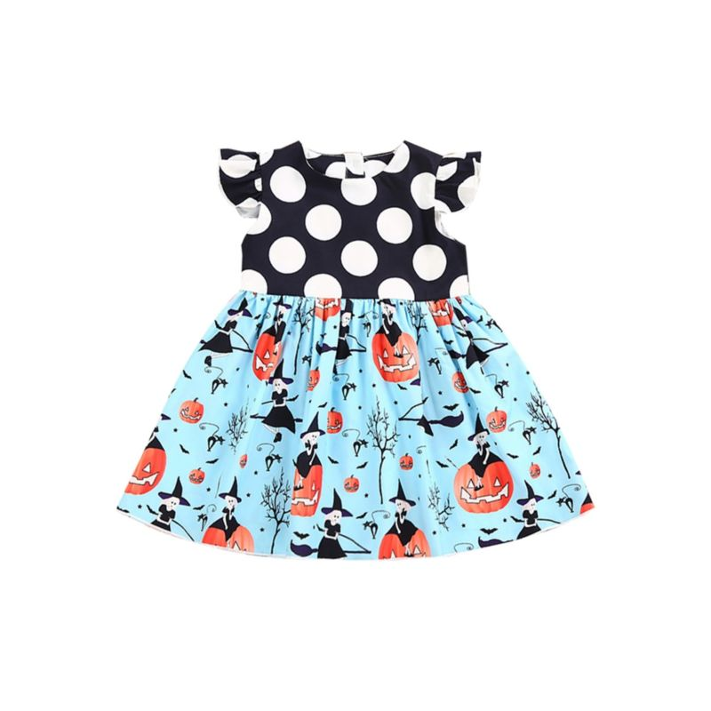 Cute Baby Toddler Girl Halloween Theme Dress