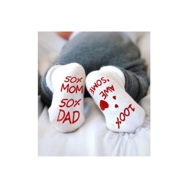 3-PACK Cute Baby Letters Print Socks