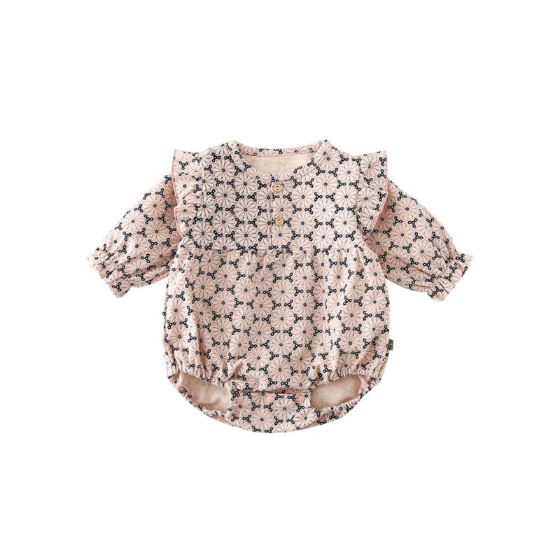 Autumn Baby Girl Flutter Sleeve Bodysuit