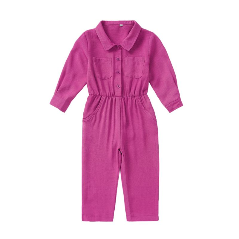 Fall Solid Color Jumpsuit