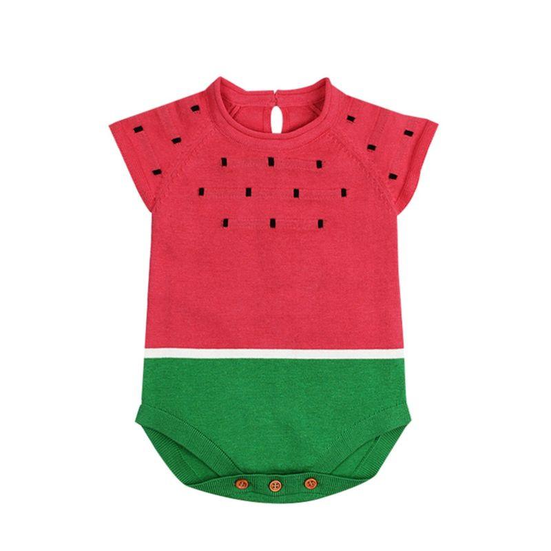 Cute Watermelon Knit Romper