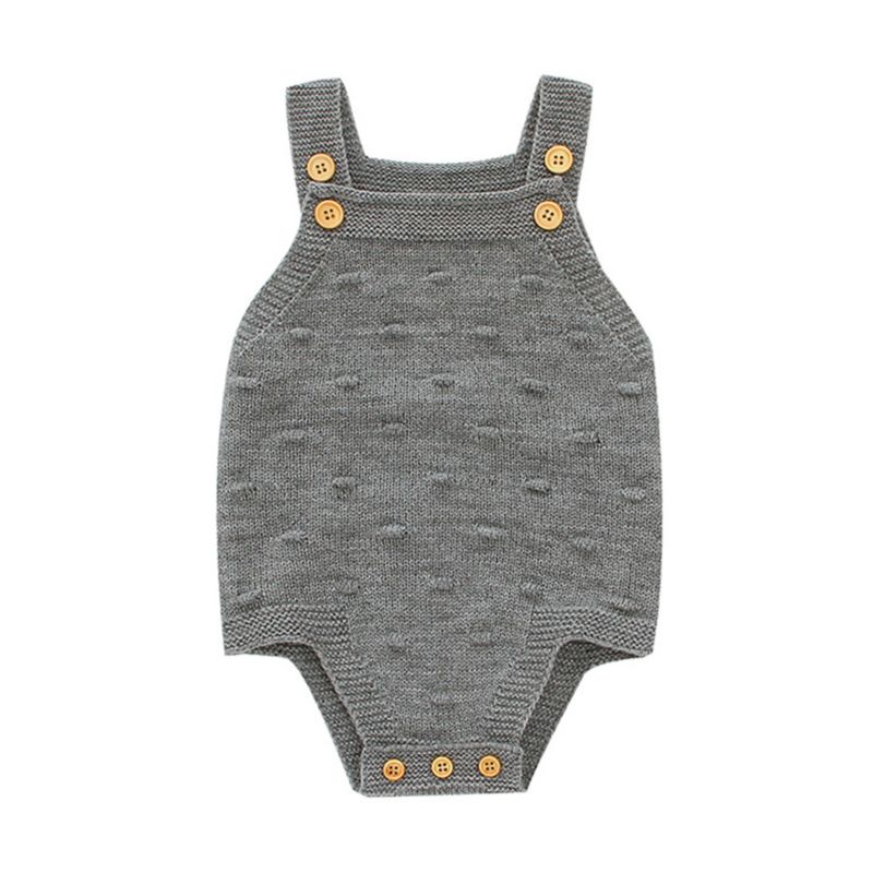 Solid Color Knit Baby Bodysuit