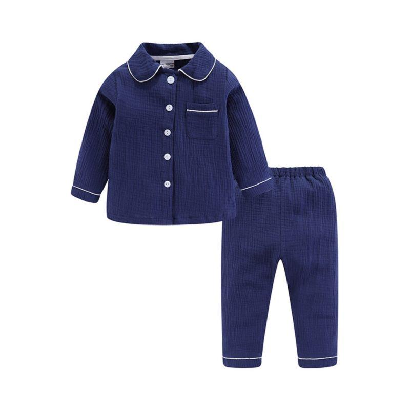2-Piece Toddler Little Kids Muslin Homewear Set