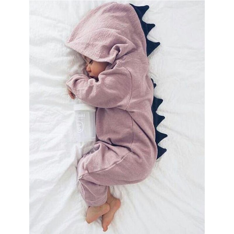 Cute Dinosaur Style Zipper Romper Sleepsuit Jumpsuit for Babies wholesale baby clothes