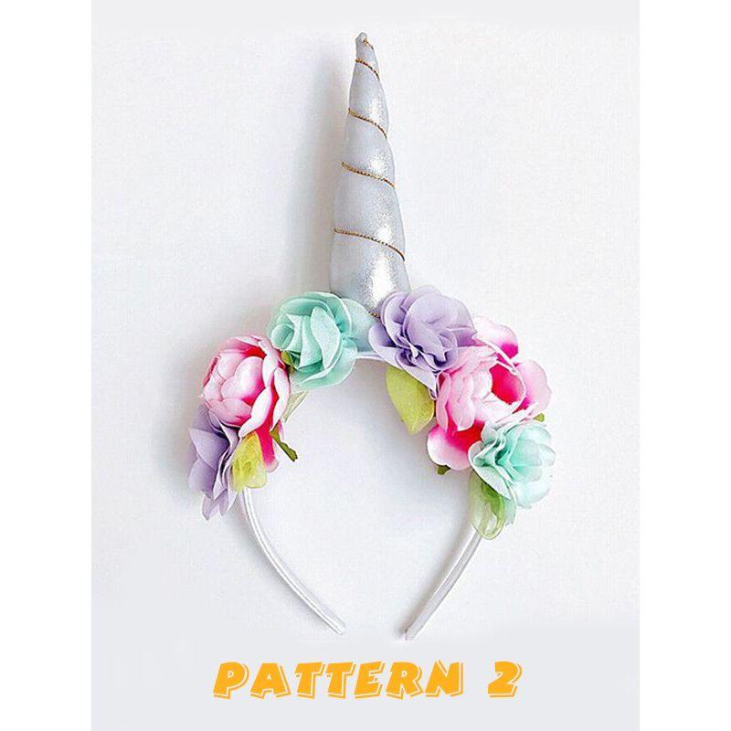 Unicorn Pattern Kids Hair Clasp Festival Decoration Flowers Baby Headwear