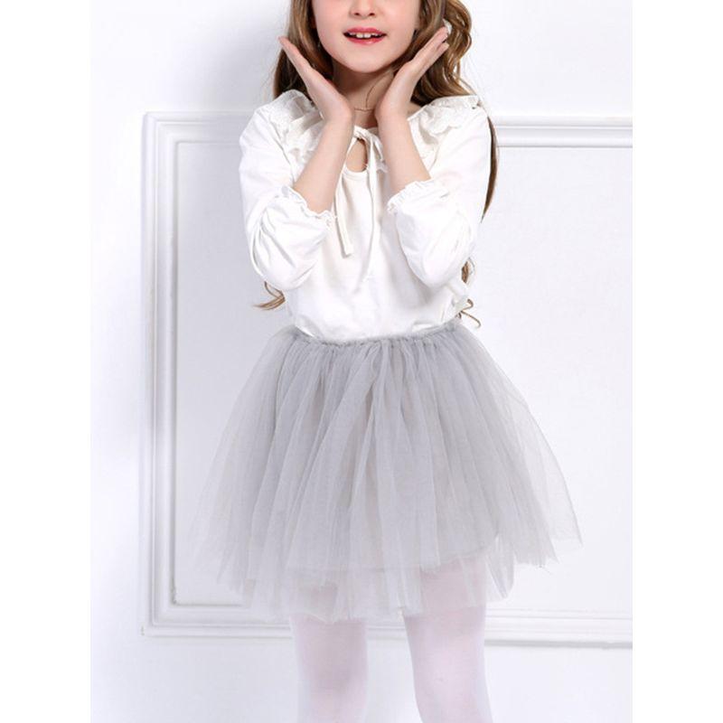 4 Layers Tulle Skirt Toddler Girls Tutu Pettiskirt