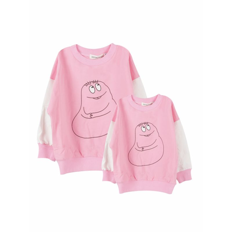 Mum and Me Cartoon Cotton Jumper Sweatshirt for Spring Autumn