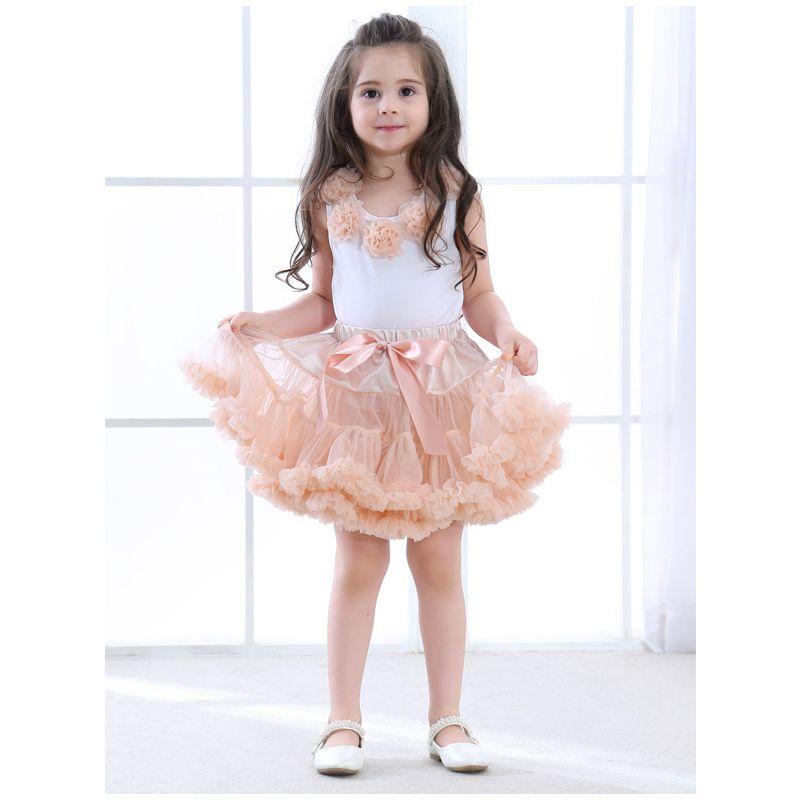 Tulle Tutu Princess Skirt Dance wear Breathable Soft for Girls Pettiskirt