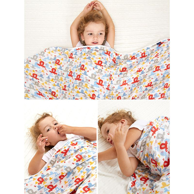 6 Layers Muslin Gauze Baby Blanket Soft Skin-friendly Wrapped Towel For Babies Kids