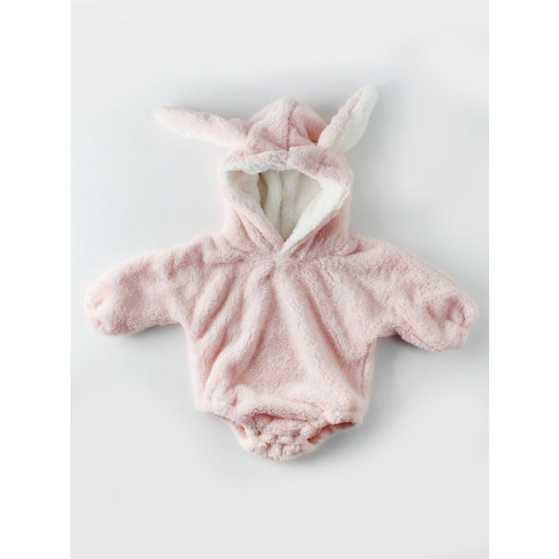 Cute Thick Bunny Ear Pattern Baby Romper Bodysuit Long Sleeve for Winter
