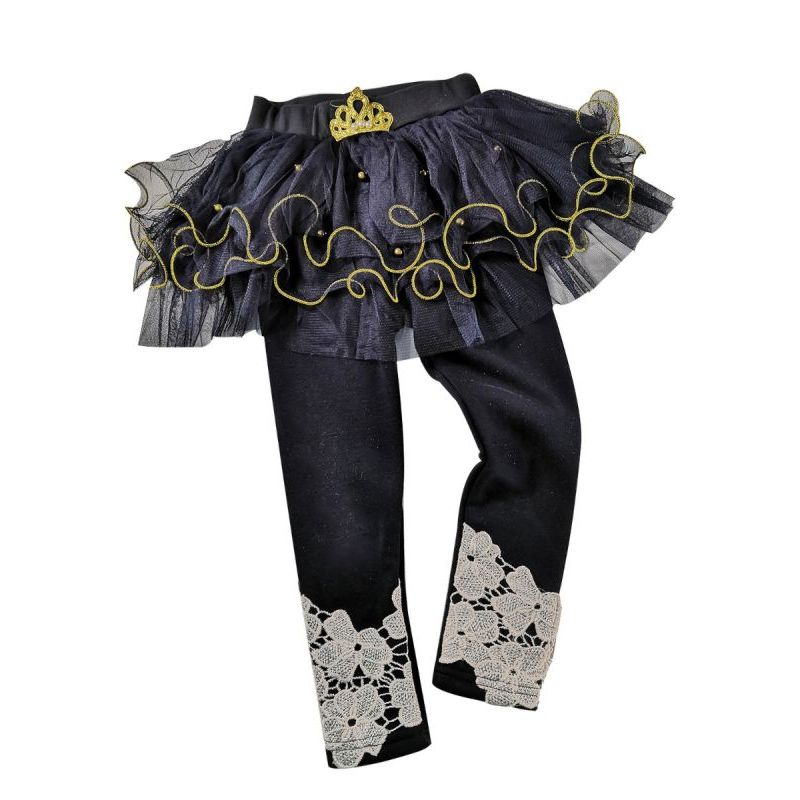 342dc207648bc Fashion Little Big Girl Crown Culottes Leggings Pants Little Big Girl Lace-Hem  Tutu Legging