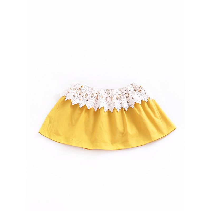 Fashion Baby Girl Lace Pierce Bandeau Top for Summer
