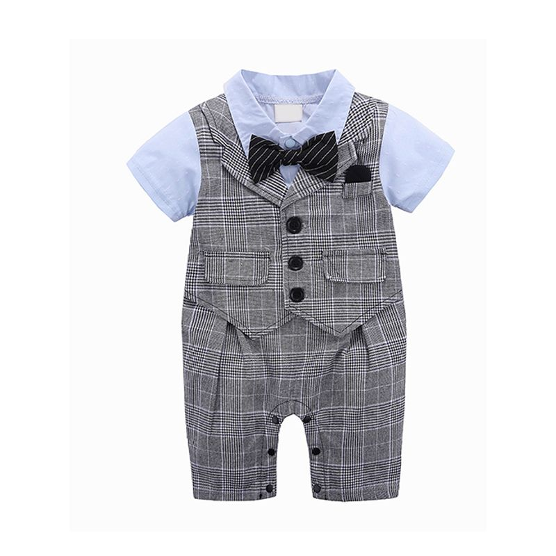 a579aeaeb Kiskissing 2018 Summer Newborn Baby Instagram Style Romper Sleeveless  Bowknot Overall Plaid Romper Jumpsuit For Baby