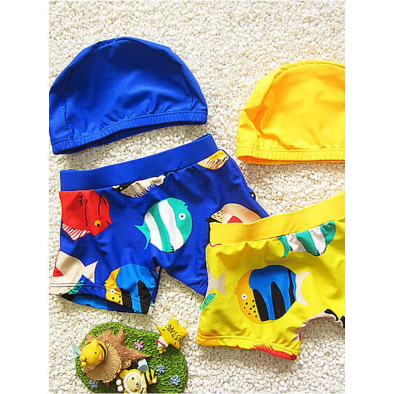 Cartoon Printed Swimwear Set for Toddler Boys 2 piece set trendy kids wholesale clothing