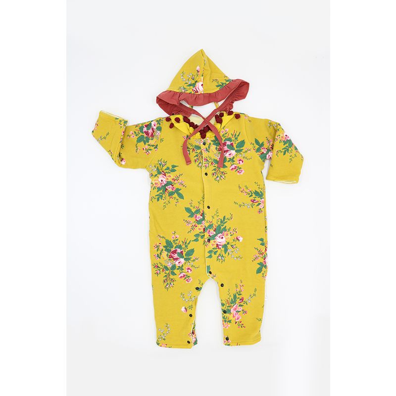 Kiskissing floral print Long Sleeve Solid Color Romper Jumpsuit for Babies wholesale baby clothes